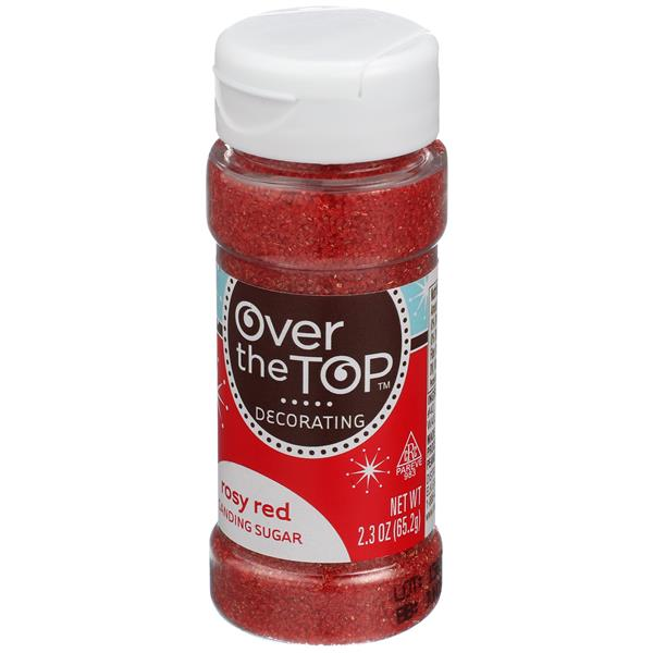 Over The Top Rosy Red Sanding Sugar