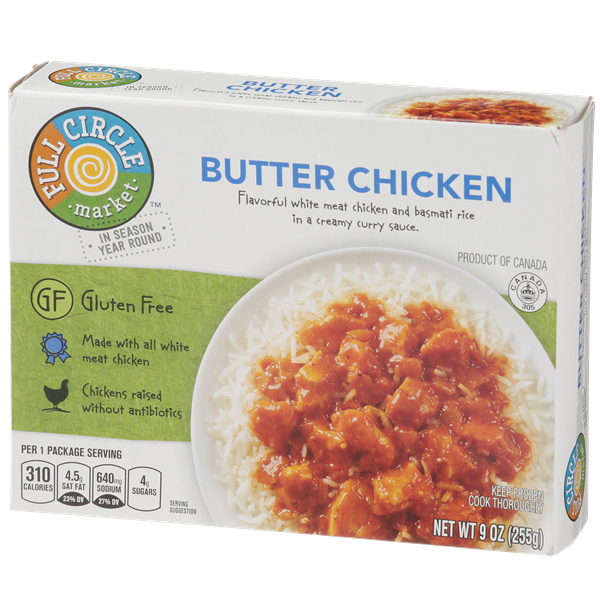 Full Circle Gluten Free Butter Chicken