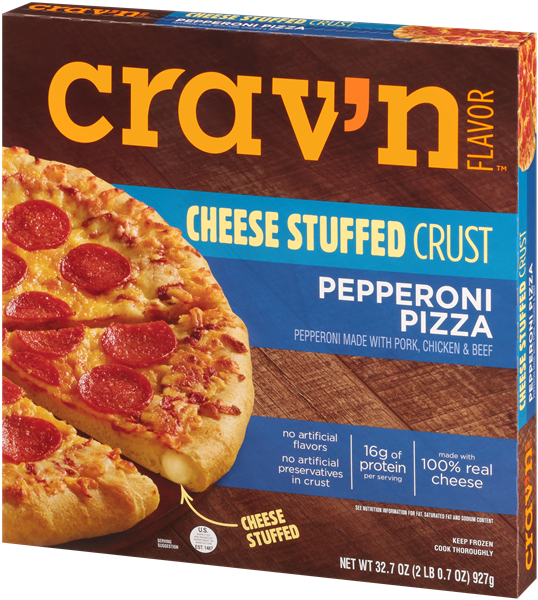 Crav'n Pepperoni Pizza Cheese Stuffed Crust