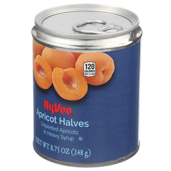 Hy-Vee Apricot Halves Unpeeled Apricots in Heavy Syrup