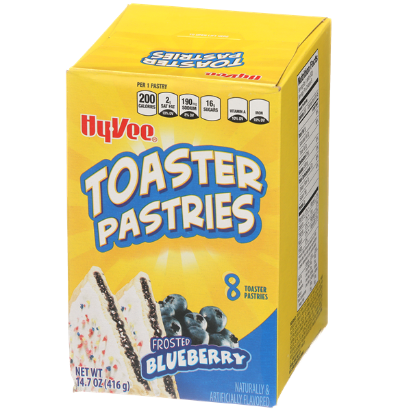 Hy-Vee Frosted Blueberry Toaster Pastries 8Ct