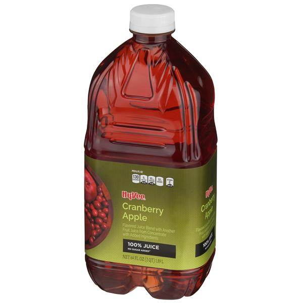 Hy-Vee 100% Cranberry Apple Juice