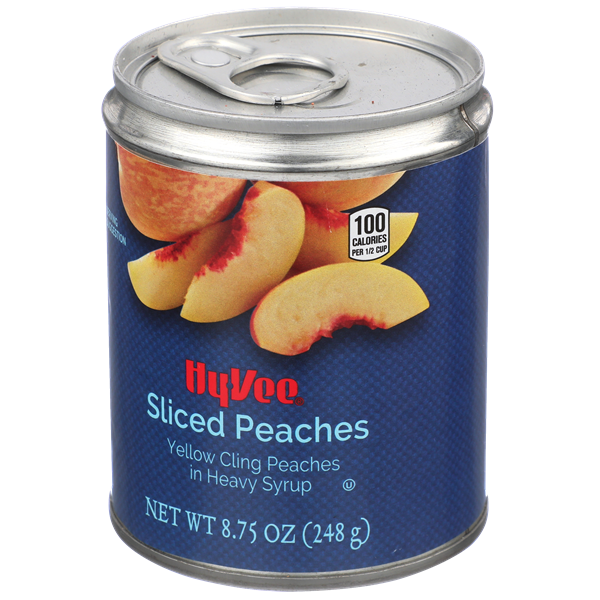 Hy-Vee Sliced Yellow Cling Peaches in Heavy Syrup