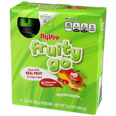 Hy-Vee Fruity Go Applesauce 4 - 3.2 oz Pouches