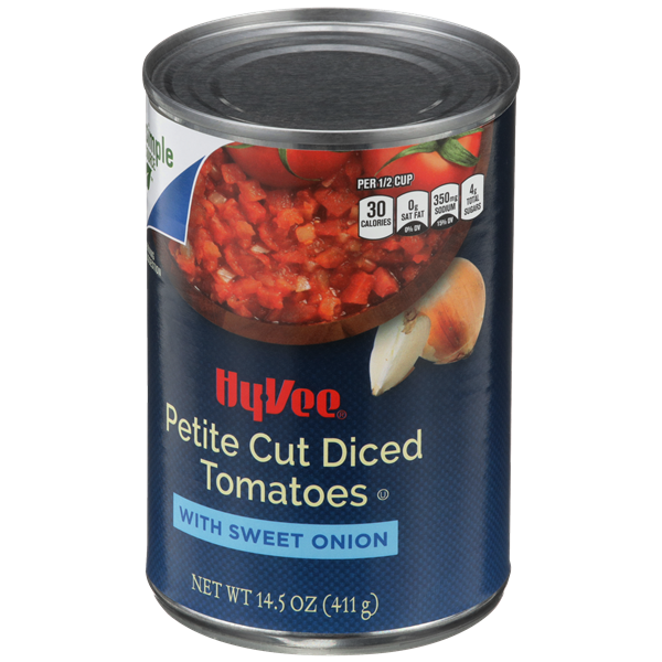 Hy-Vee Petite Cut Diced Tomatoes with Sweet Onion