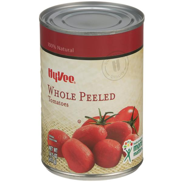 Hy-Vee Whole Peeled Tomatoes