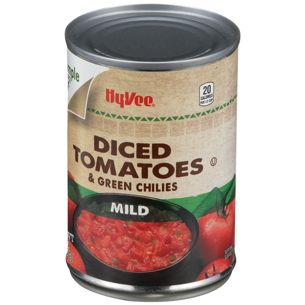 Hy-Vee Mild Diced Tomatoes & Green Chilies