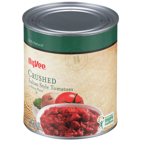 Hy-Vee Crushed Italian Style Tomatoes in Heavy Puree