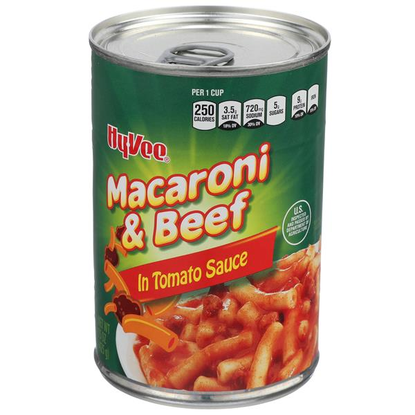 Hy-Vee Macaroni & Beef in Tomato Sauce