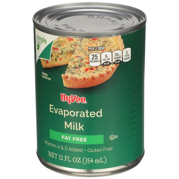 Hy-Vee Fat Free Evaporated Milk
