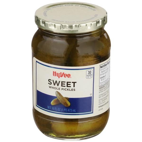 Hy-Vee Whole Sweet Pickles