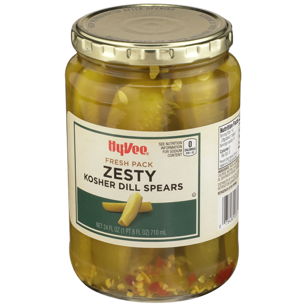 Hy-Vee Zesty Kosher Dill Pickle Spears