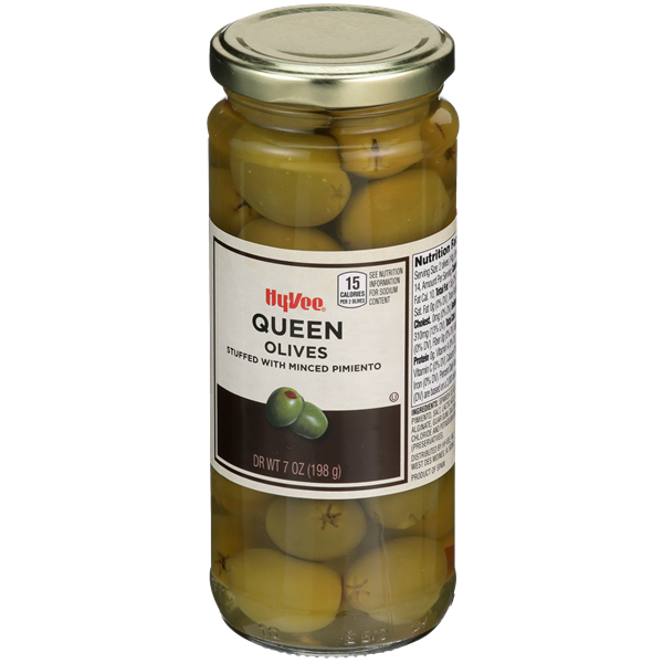 Hy-Vee Queen Olives Stuffed with Minced Pimiento