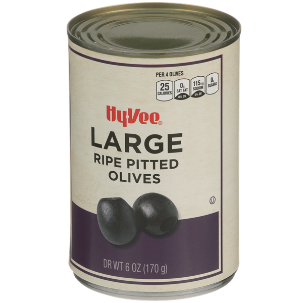 Hy-Vee Large Pitted Ripe Olives