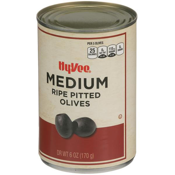 Hy-Vee Medium Ripe Pitted Olives
