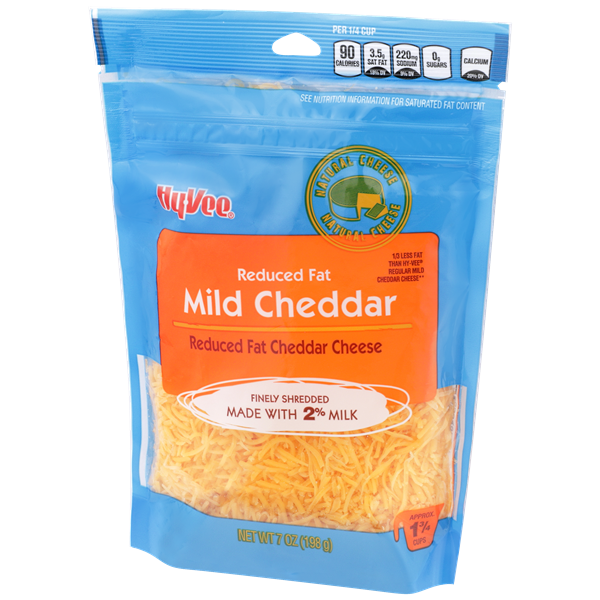 Hy-Vee Finely Shredded Reduced Fat 2% Milk Mild Cheddar Cheese