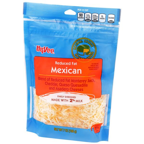 Hy-Vee Finely Shredded Reduced Fat Mexican Blend Natural Cheese