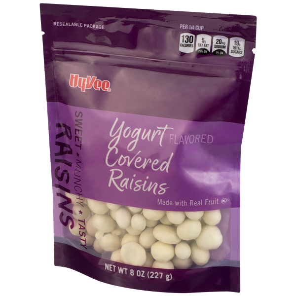 Hy-Vee Fruit Vanilla Yogurt Covered Raisins
