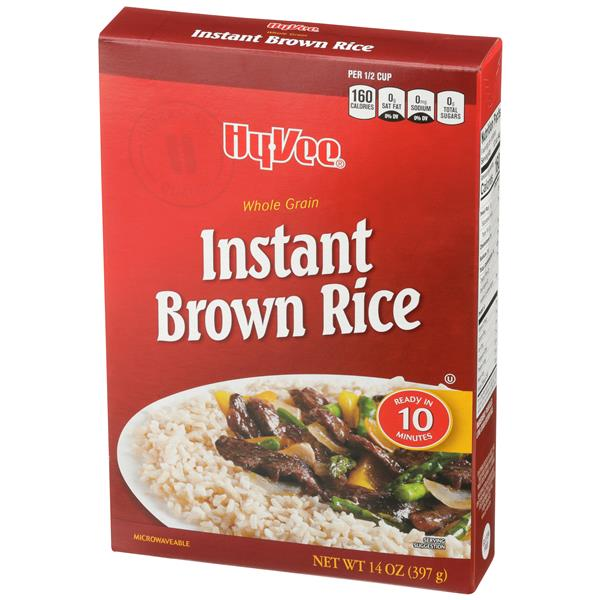 Hy-Vee Natural Whole Grain Instant Brown Rice