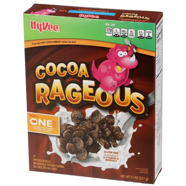 Hy-Vee One Step Cocoa Rageous Cereal