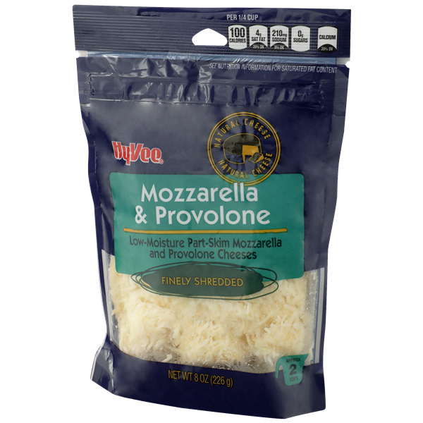 Hy-Vee Finely Shredded Mozzarella & Provolone Natural Cheese
