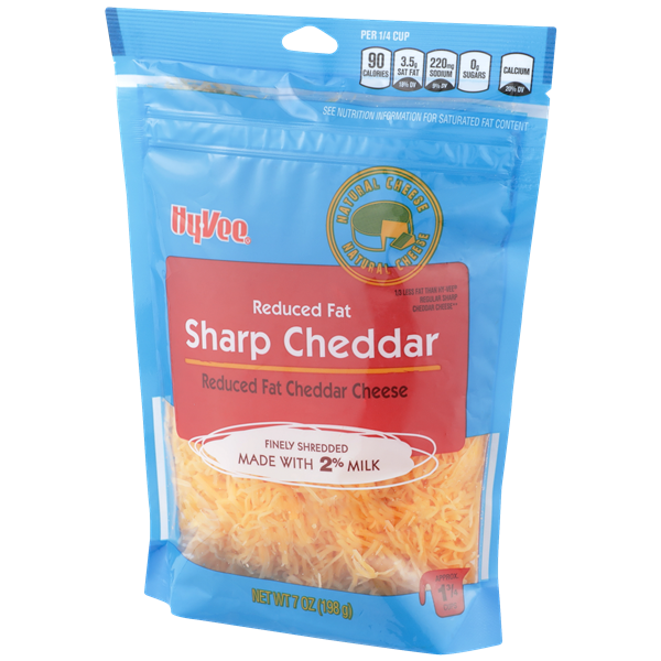 Hy-Vee Finely Shredded 2% Milk Reduced Fat Sharp Cheddar Cheese