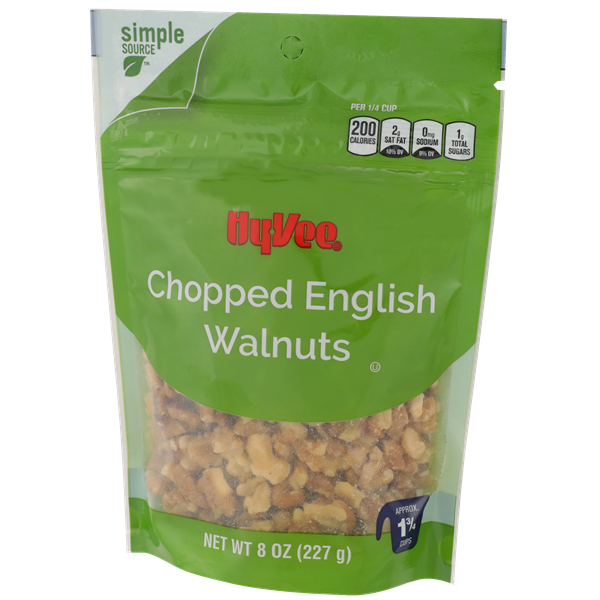 Hy-Vee Chopped English Walnuts