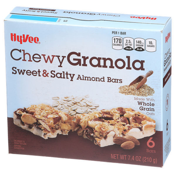 Hy-Vee Chewy Sweet & Salty Almond Granola Bars 6Ct