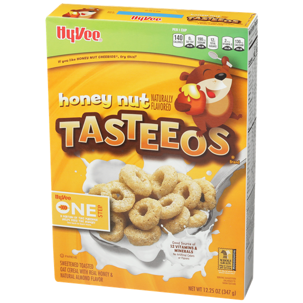 Hy-Vee One Step Honey Nut Tasteeos Cereal