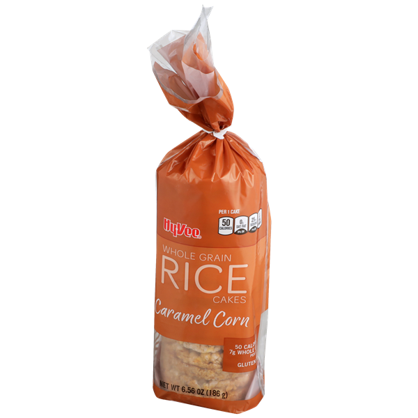 Hy-Vee Caramel Corn Whole Grain Rice Cakes