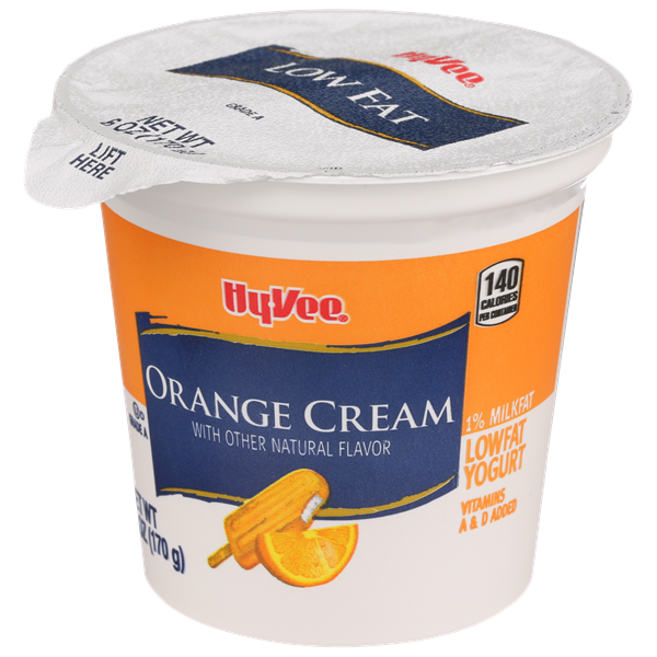 Hy-Vee Orange Cream Lowfat Yogurt