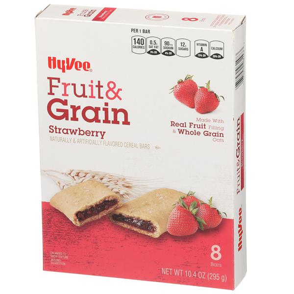 Hy-Vee Fruit & Grain Strawberry Cereal Bars