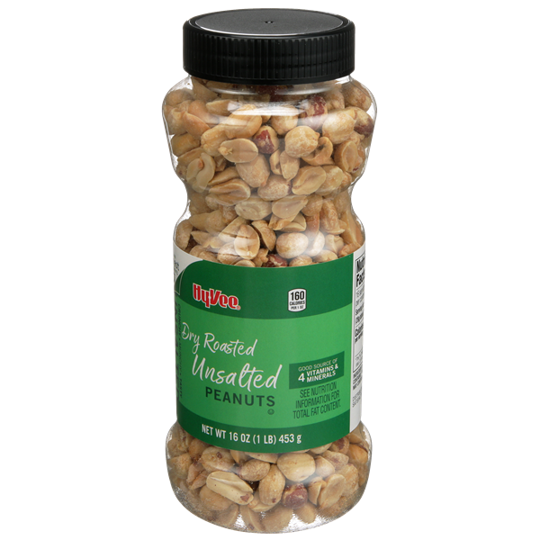 Hy-Vee Unsalted Dry Roasted Peanuts
