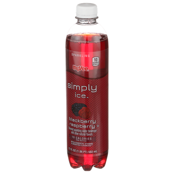 Hy-Vee Simply Ice Blackberry Raspberry Sparkling Water Beverage