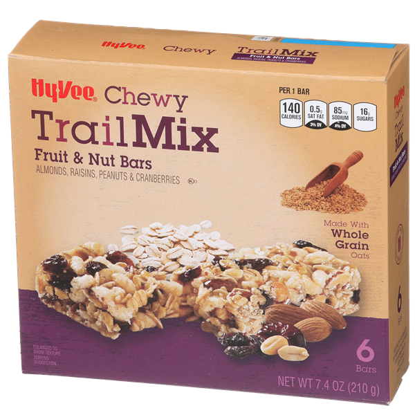 Hy-Vee Trail Mix Chewy Fruit & Nut Bars 6Ct