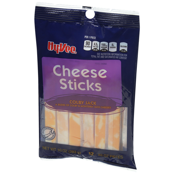 Hy-Vee Sticks Colby Jack 12 Count