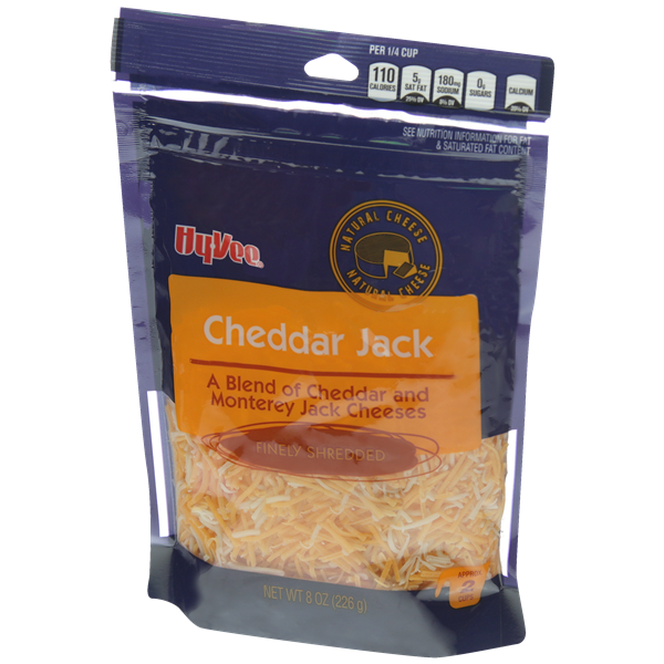 Hy-Vee Finely Shredded Cheddar Jack Natural Cheese