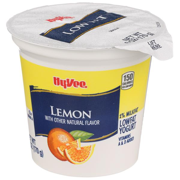 Hy-Vee Lemon Flavored Lowfat Yogurt