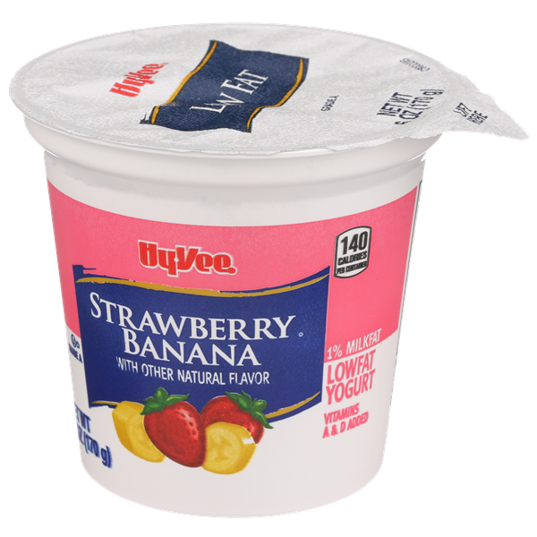 Hy-Vee Strawberry Banana Lowfat Yogurt