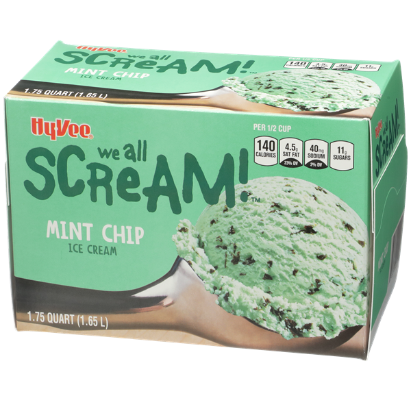 Hy-Vee Mint Chip Ice Cream