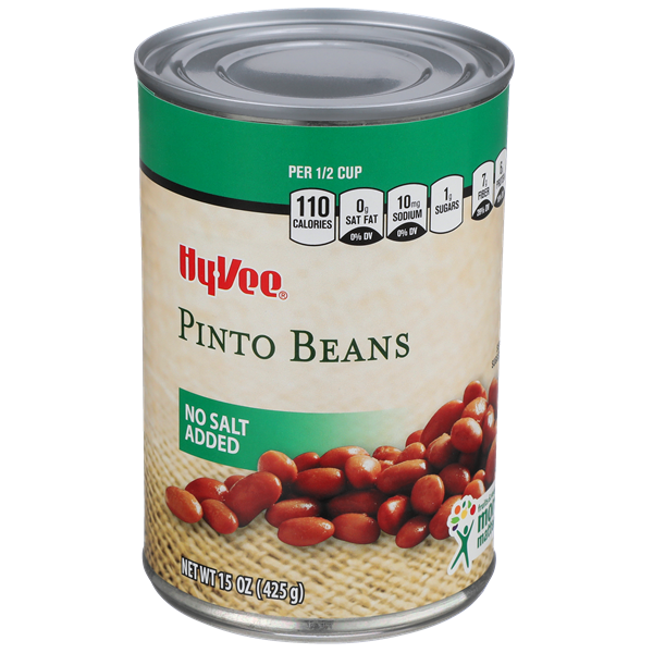 Hy-Vee No Salt Added Pinto Beans