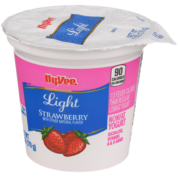 Hy-Vee Light Strawberry Nonfat Yogurt