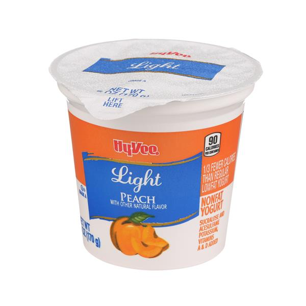 Hy-Vee Light Peach Nonfat Yogurt