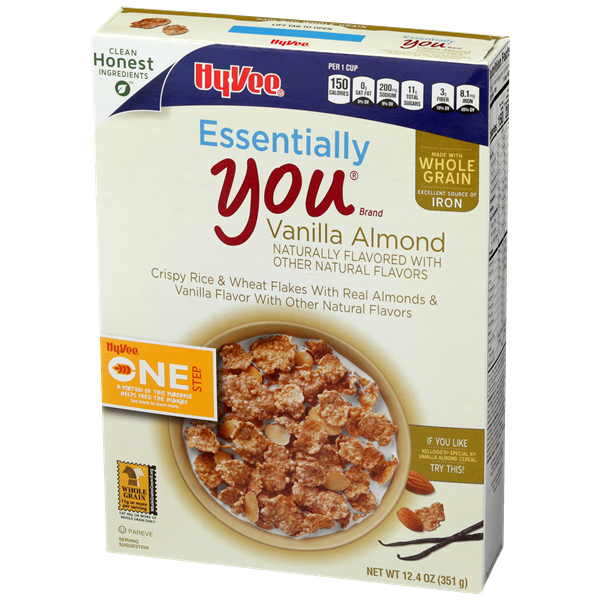 Hy-Vee One Step Essentially You Vanilla Almond Cereal