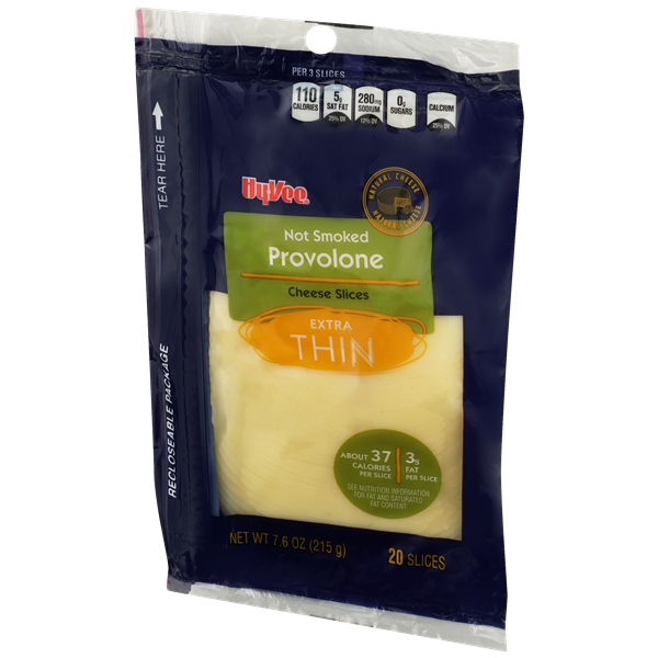 Hy-Vee Ultra Thin Sliced Provolone Cheese 20Ct