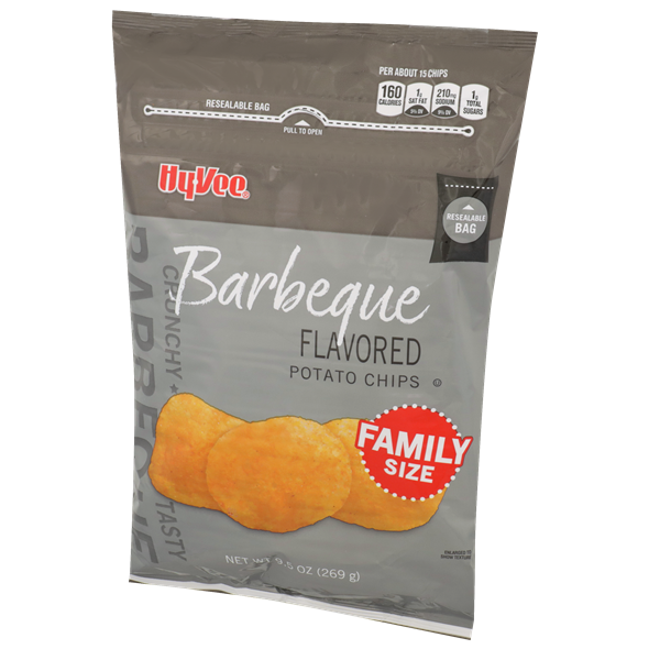 Hy-Vee Barbeque Potato Chips Family Size