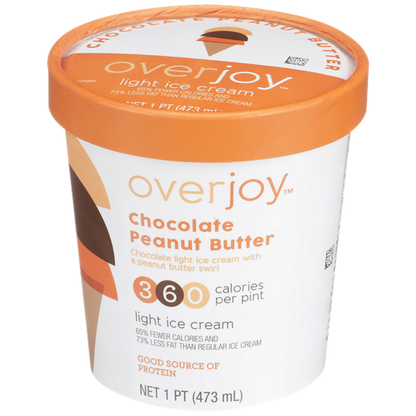 Overjoy Chocolate Peanut Butter Light Ice Cream