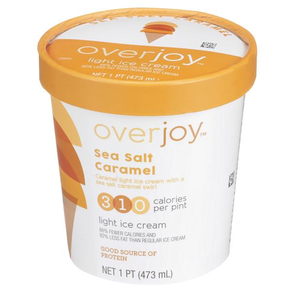 Overjoy Sea Salt Caramel Light Ice Cream