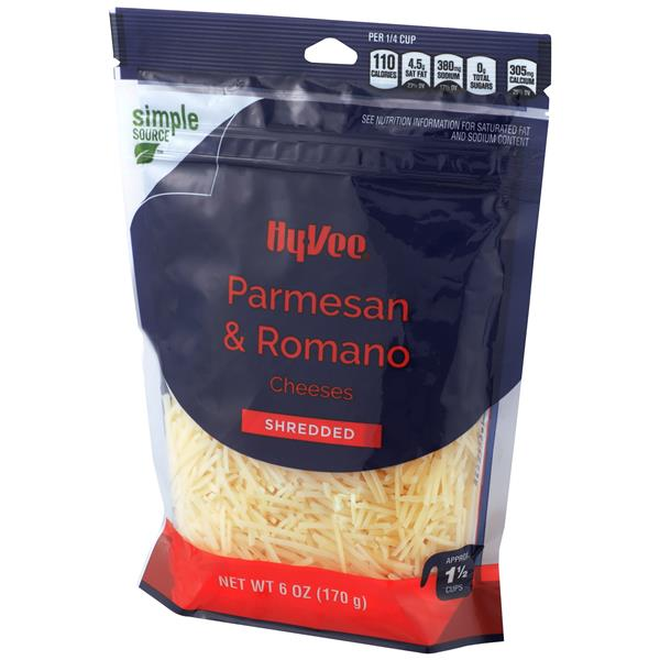 Hy-Vee Parmesan & Romano Shredded Cheese