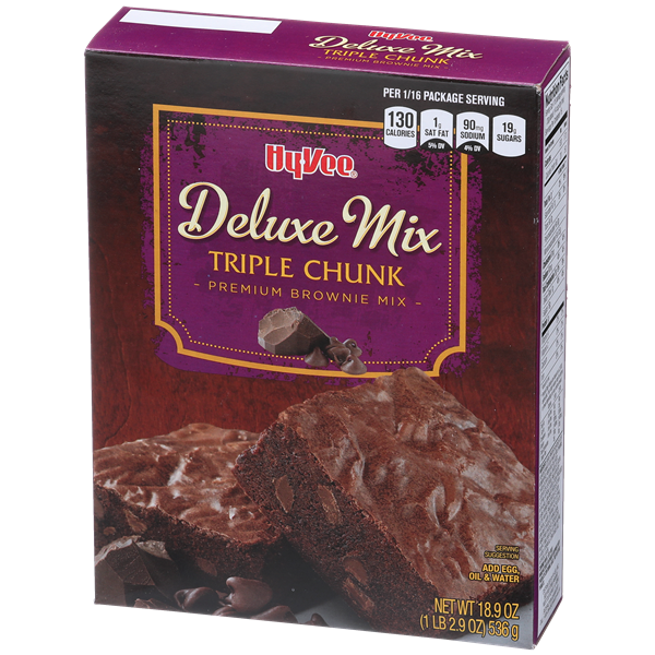 Hy-Vee Deluxe Mix Triple Chunk Brownie Mix